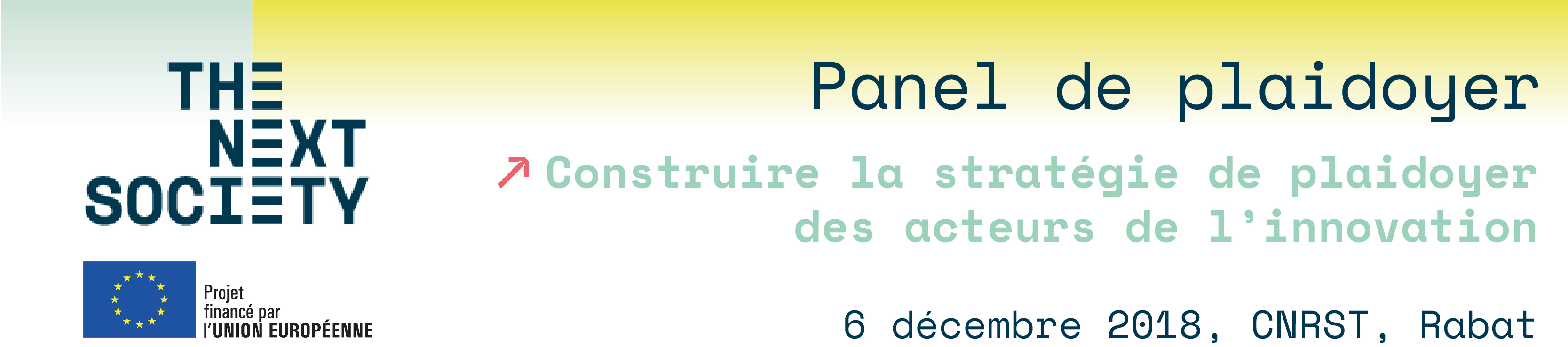 Bannière panel de plaidoyer THE NEXT SOCIETY