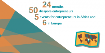 24 months, 50 diaspora entrepreneurs, 5 events for entrepreneurs in Africa and 6 in Europe
