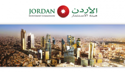 Couverture d'une presentation avec une photo d'une future ville moderne en Jordanieern city in Jordan