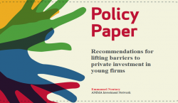 Recommendations for lifting barriers to private investment in young firms - Policy Paper by Sahwa Project and Emmanuel Noutary, general director of ANIMA Investment Network
